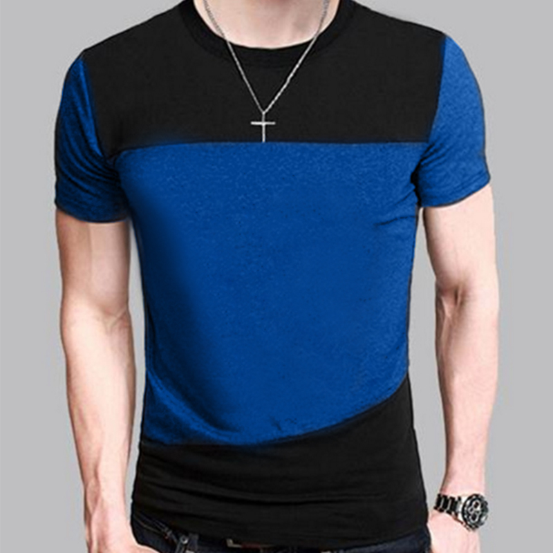New fashion mens 2016 short sleeve brand patchwork t shirt for New fashion t shirt man