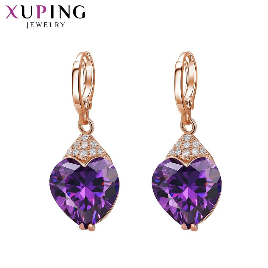 11,11 Angebote Xuping Mode Luxus Ohrringe für Frauen Synthetische Zirkonia Eardrops Schmuck Weihnachten Tag Geschenk S53-27656