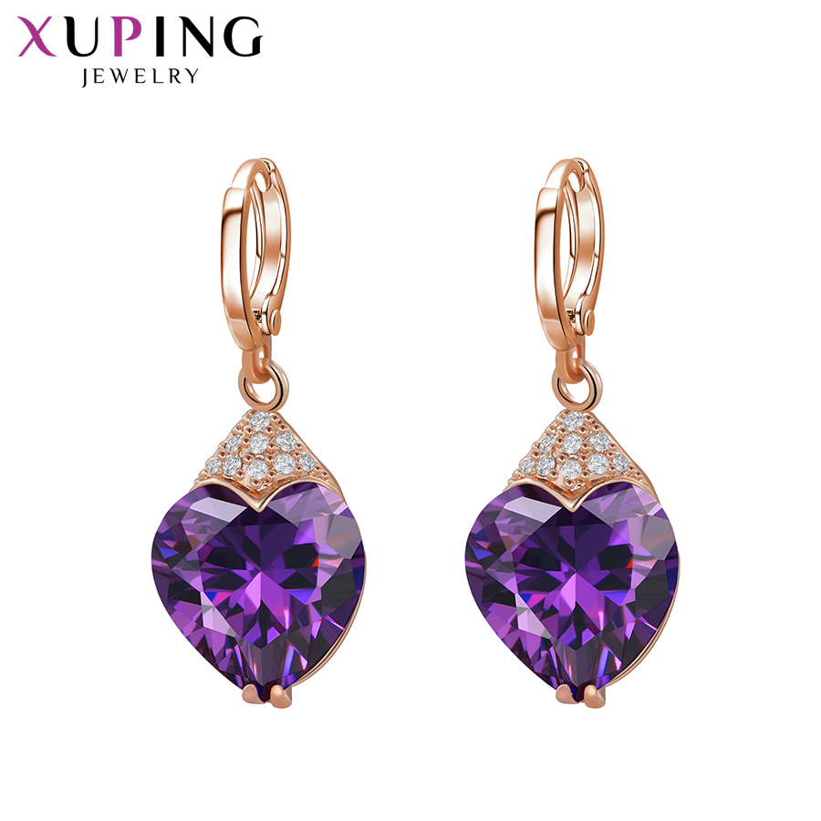 11 11 Deals Xuping Fashion Luxury Earrings for Women Synthetic Cubic Zirconia Eardrops Jewelry Christmas Day