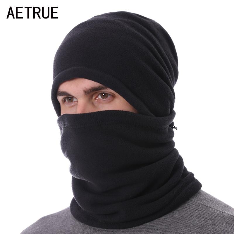 AETRUE Winter Knitted Hat Scarf   Beanie   Men Women Cap Balaclava Male Gorras Bonnet Winter Hats For Men Ring   Skullies     Beanies   Hats