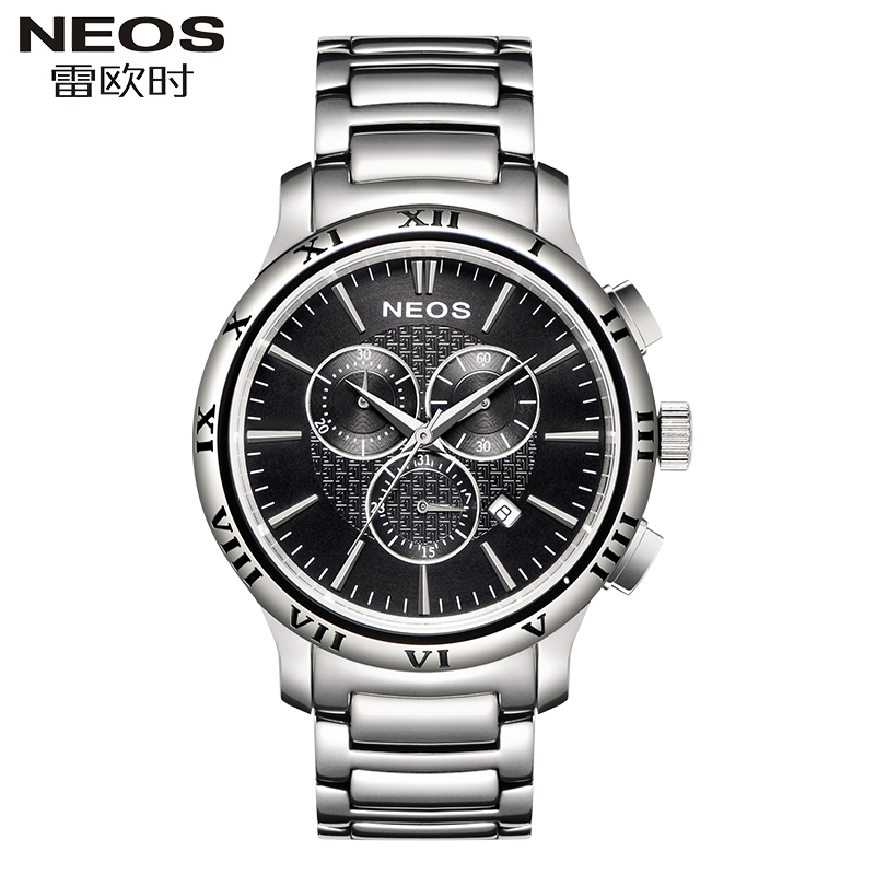 NEOS Men's Simple Quartz Watch Casual Fashion Trend Six Needle Stainless Steel With Waterproof Calendar Stopwatch Automatic Date casio watch fashion casual quartz needle steel watch ltp 1359rg 7a ltp 1359sg 7a
