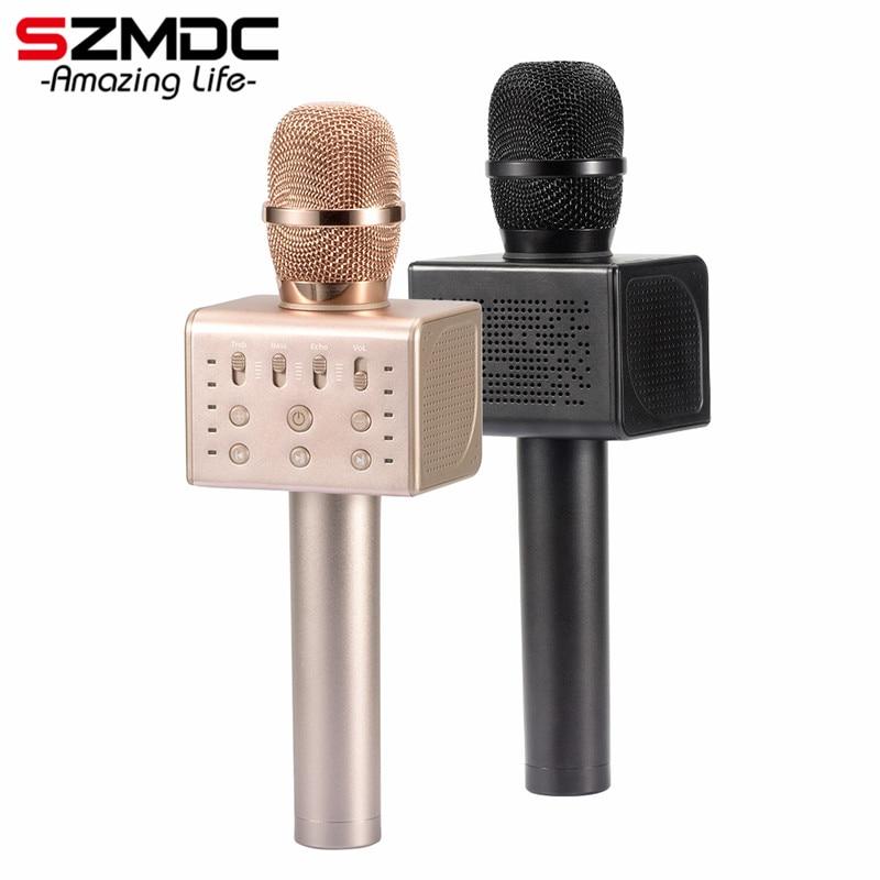 2018 MicGeek Q11 Wireless Karaoke Microphone 2 1 Sound Track Dimensional Sound Voice Change 5 Speakers