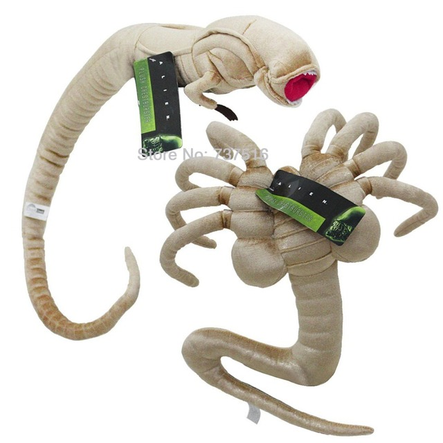 Set Of 2pcs Alien Chestburster Facehugger Plush Animals Doll Toys Lifesize Christmas New Year Gifts Us Shipping