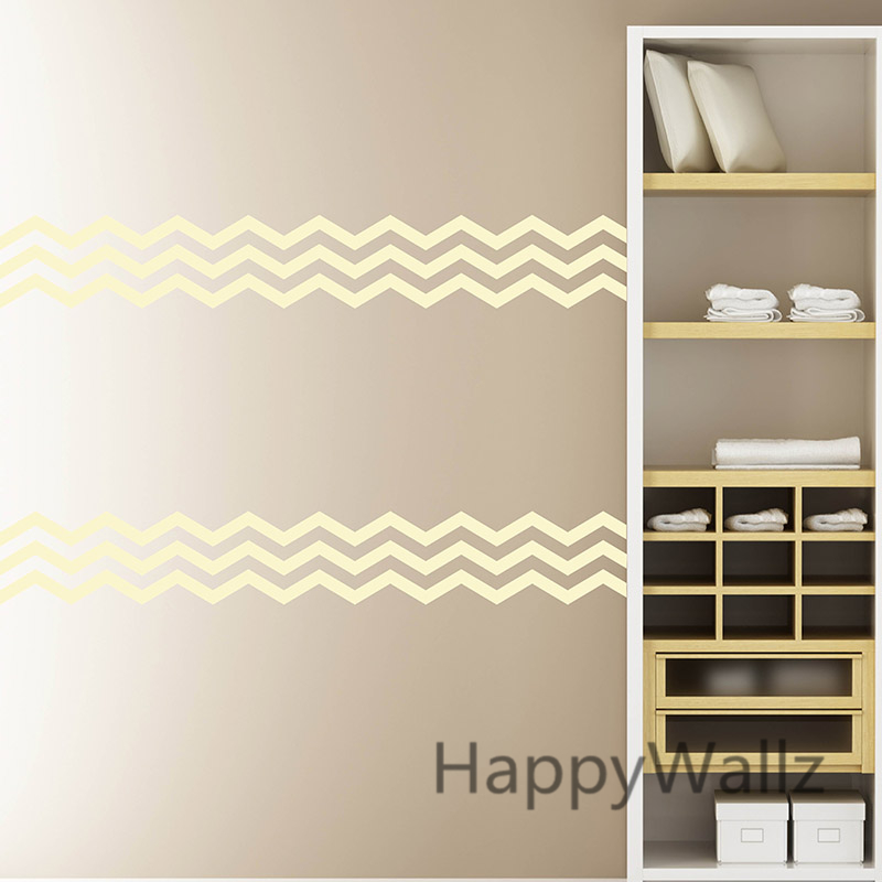 Chevron Stripe Wall Sticker Chevron Wall Decals DIY Chevron Mural Wallpaper  56x15cm Removable Wall Decoration Easy Wall Art P62 In Wall Stickers From  Home ...