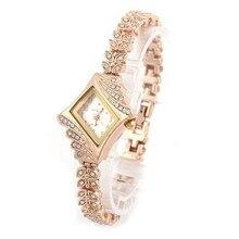 Unique 2017 New Fashion Women's Bracelet Watch Crystal Quartz Rhombus Bracelet Bangle Wrist Watch Drop Shipping