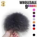 Raccoon Fur Balls 15pcs/lot 14-15cm Fur Pompom for Colourful Key Chain Hats Children Hats Accessories