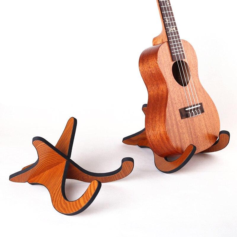Guitar Holder Ukulele Stand Acoustic Folk Guitar Ukulele Stand Wooden Guitarra Accessories Stand Musical Strings Instrument Tool