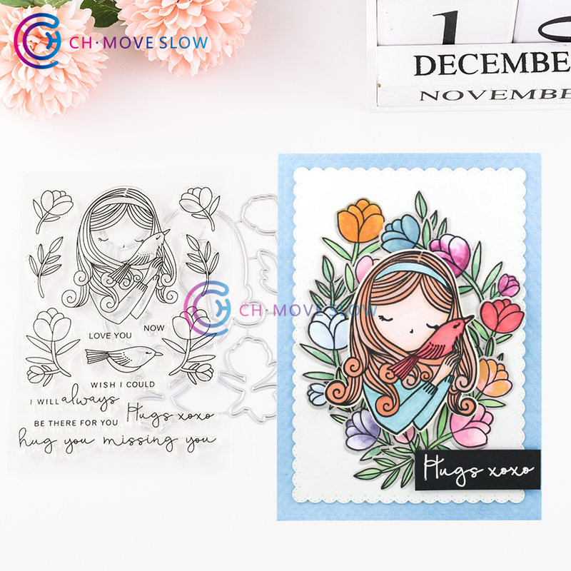 2019 8pcs gift to you Clear Stamp and Dies for Scrapbooking Card Album Making Me