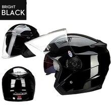 JieKai doppia lente del motociclo casco unisex bici bicicletta scooter elettrico caschi moto caschi casco del motociclo