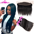 7A Ear to Ear Lace Frontal Closure with Bundles Peruvian Virgin Hair with Closure Human Hair Weave Peruvian Straight Virgin Hair