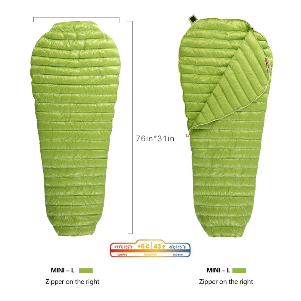 AEGISMAX Goose Down Sleeping Bag Mummy Bags Ultralight Goose Down Spring Autumn Down Sleeping Bag For Outdoor Camping Backpack gazelle outdoors apply spring autumn winter camping outdoor mummy sleeping bags