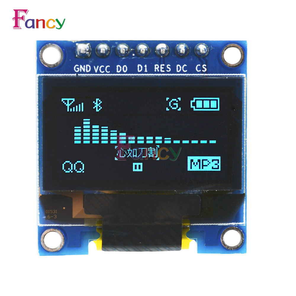 0.96 0.96 Inch Blue OLED Module 128X64 OLED LCD LED Display Module For Arduino IIC I2C Communicate DC 3V-5V SPI Serial Module