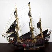 Paper model ship Pirates of the Caribbean Black Pearl ancient Sailing sailboat warships 3d puzzles toy