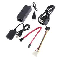 USB 2.0 ל SATA IDE 480 Mbps יציאת מקבילית סידורי כבל קו מתאם חשמל עבור 2.5 inch/3.5 inch SATA כונן דיסק קשיח גבוהה מהירות