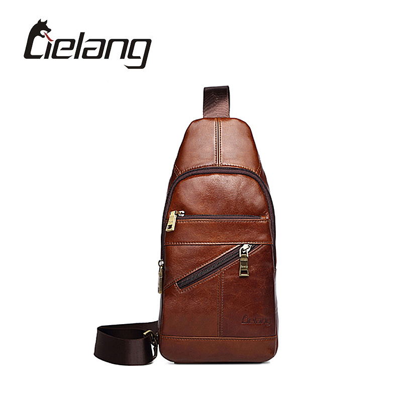 LIELANG Bag Men Travel Chest Pack Small Messenger Bags Genuine Leather Crossbody Bag Vintage Rucksack Chest Bag New Hot genuine leather men shoulder bags brown black business messenger bag vintage multifunction casual travel crossbody pack rucksack