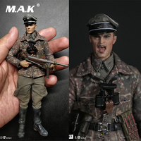 1/12 POCKET ELITE SERIES:WWII SS Panzer Division Das ReichPES003 German with Double Head Carving Weapon Full Set Action Figure