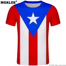 0b178dfb8 PUERTO RICO t shirt diy free custom made name number pri t-shirt nation flag