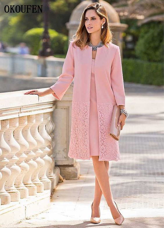 Mother Of The Bride Groom Dresses Set 2019 Vintage Short Pink Jacket Outfit Wedding Party Gown Kurti Vestido De Madrinha Farsali