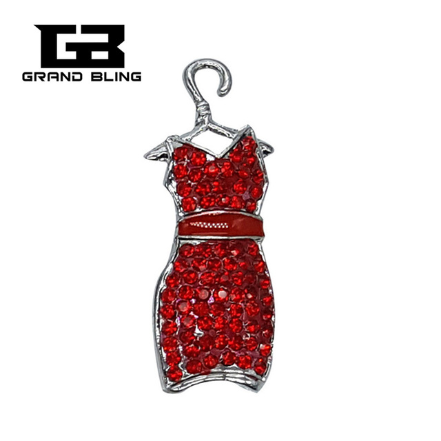 b811ad1c780 Bingbling Red Rhinestones Lady Dress Style Brooch Pin Jewelry also Can be  Weared as the Neckalce