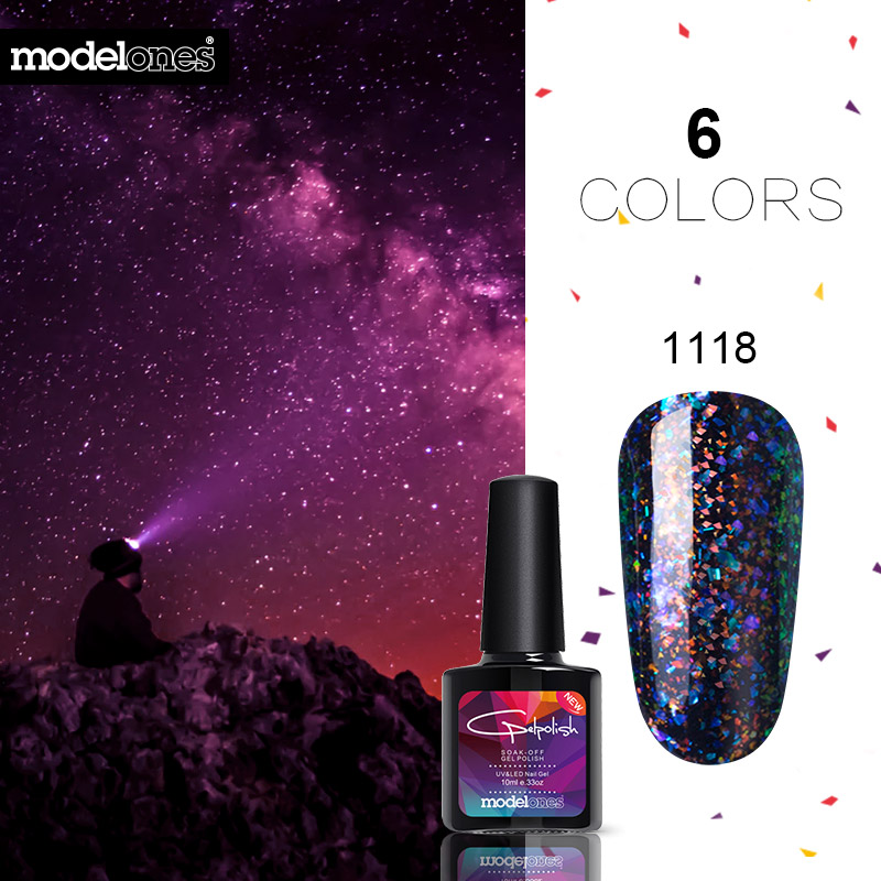 Gelaxy Gel Nail Polish: Modelones Galaxy Gel Polish 10ML Nail Gel Polish Long
