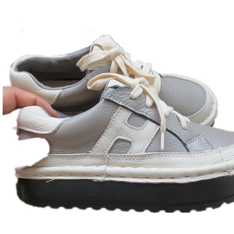New 2016 autumn,Genuine leather shoes,Pure handmade flats shoes,The retro art mori girl shoes,Comfortable pantshoes ,4 color