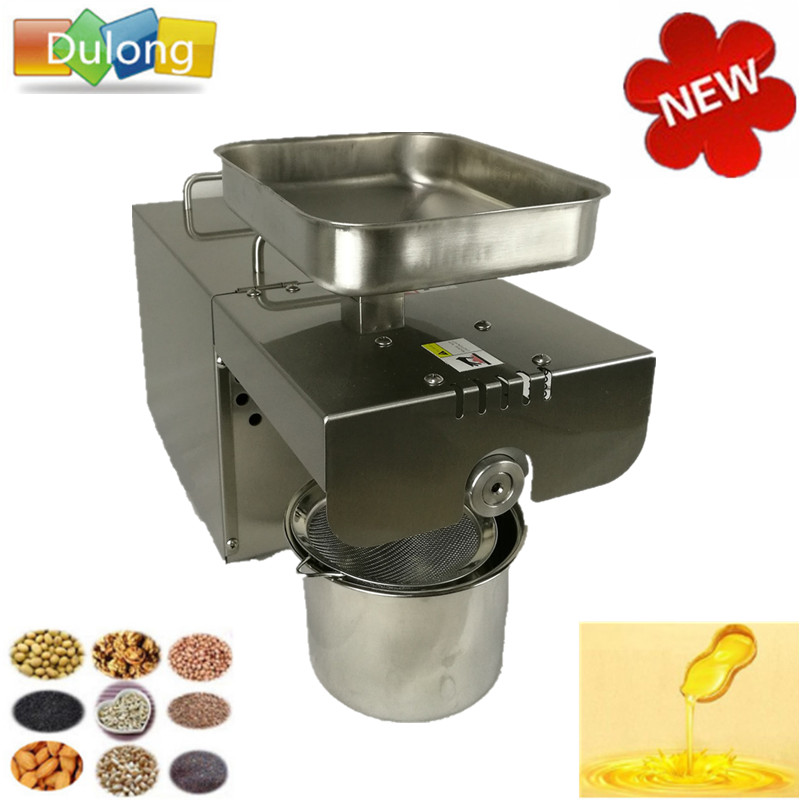 350W Motor oil press machine stainless steel cold-press seed oil extractor, oil expeller, heat press machines for home oil press electric machine press seed for oil oil mill machine household press automatic home cold pressing heat press