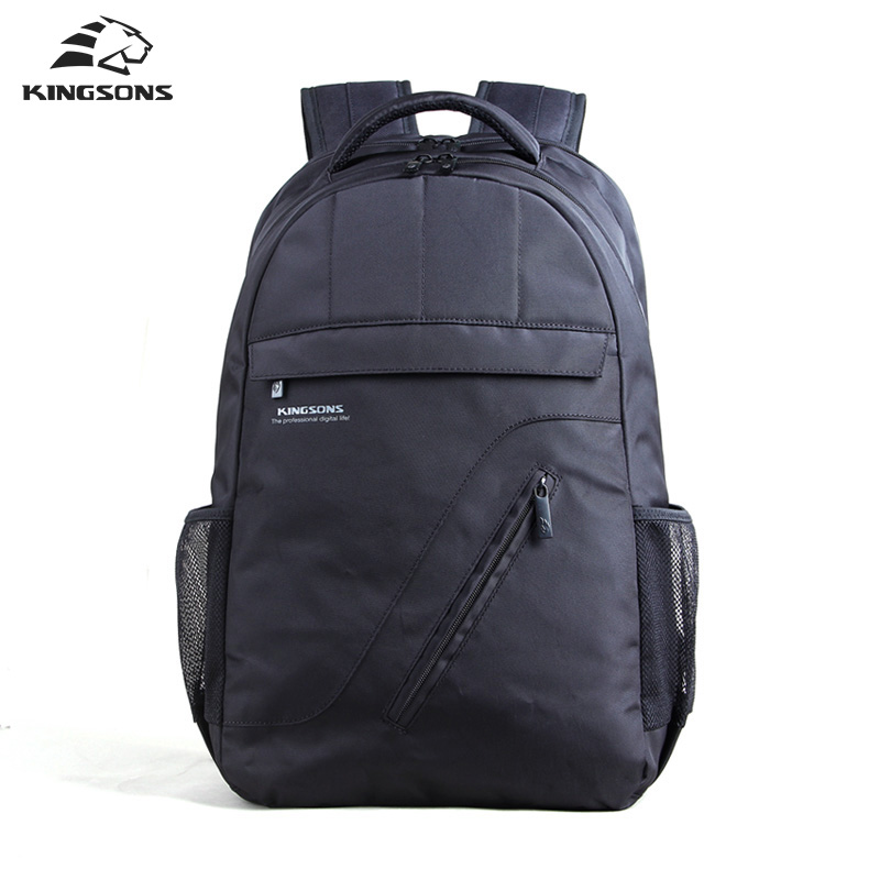 Kingsons Brand Laptop Backpack Black Men Bagpack Women Classic  Mochila Bag  Boy's Rucksack School Bags for Teenagers men backpack student school bag for teenager boys large capacity trip backpacks laptop backpack for 15 inches mochila masculina