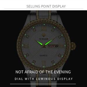 Image 4 - WWOOR שבוע שעון גברים יוקרה יום תאריך Mens שעוני יד עמיד למים גברים נירוסטה שעונים קוורץ ספורט שעון מתנת צמיד