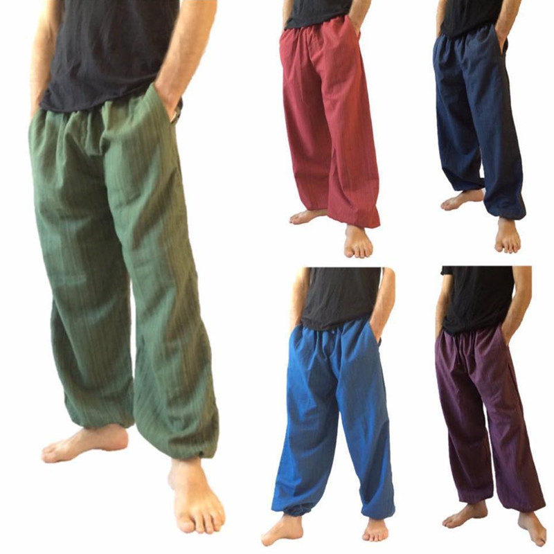 INCERUN Leg-Pants Joggers Long-Trousers Elastic-Waist Hip-Hop Men Loose Baggy Plus-Size