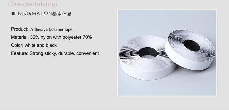 2Rolls/set 2cm*2Meters Self Adhesive hook loop tape sticky Hook and Loop fastening tape White or Black glue sticky straps