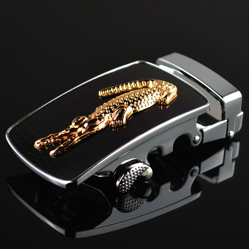 Genuine Men's Belt Head Belt Buckle Leisure Belt Head Business Accessories Automatic Buckle Width 3.5CM Luxury Fashion LY1701-08
