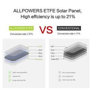 Image 2 - Allpowers bateria portátil de painel solar 21w, células fotovoltaicas e carregadores de celular para sony iphonex plus 11pro ipad
