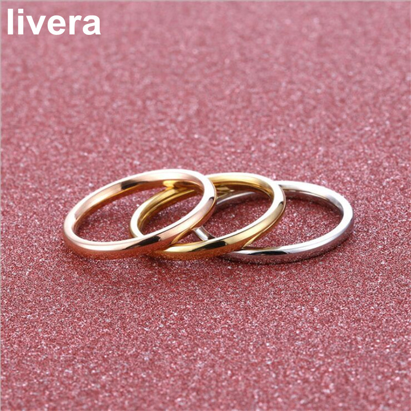 livera new fashion titanium steel ring creative wedding party rings women and men colorful personality couple rings nice gift - Creative Wedding Rings