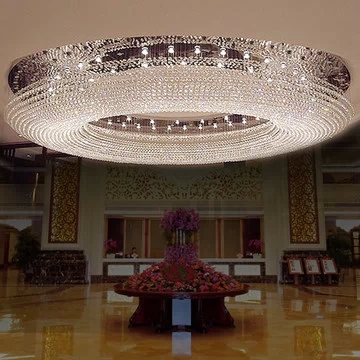 K9 Crystal Size 150 cm 150cm 43cm Circular Led Ceiling Lights Dome Light Hotel Lobby Crystal Droplight Sitting Room Light in Ceiling Lights from Lights Lighting