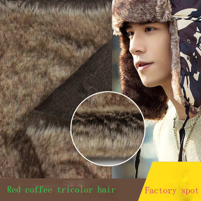 Autumn and winter faux fur red coffee tri-color hair Lei Feng hat clothes shoe  hair