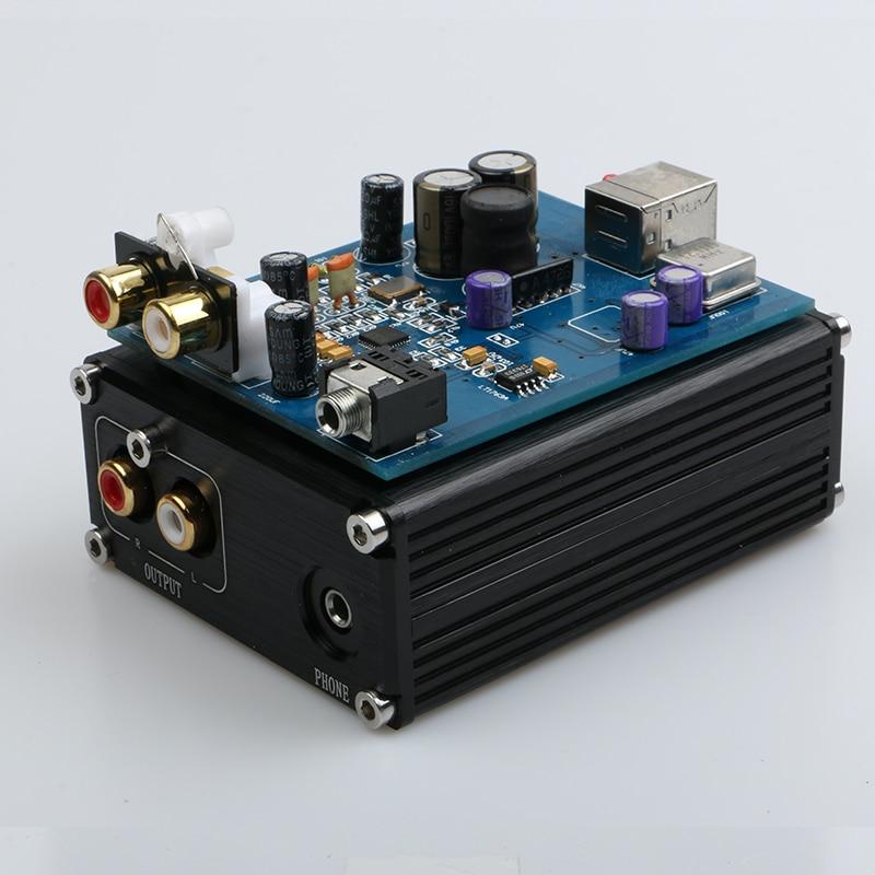 2016 New Breeze Audio ESS ES9018K2M + AD823 + SA9023 USB DAC Decoder External Sound Card  Amplifier Beyond ES9023 DAC es acoustic es 12m ad