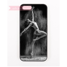 black and white girl ballet posture pattern Hard Back Cover Phone Case For iphone 4 4s 5 5s 5c se 6 6S plus 7 7 Plus  iPod Touch