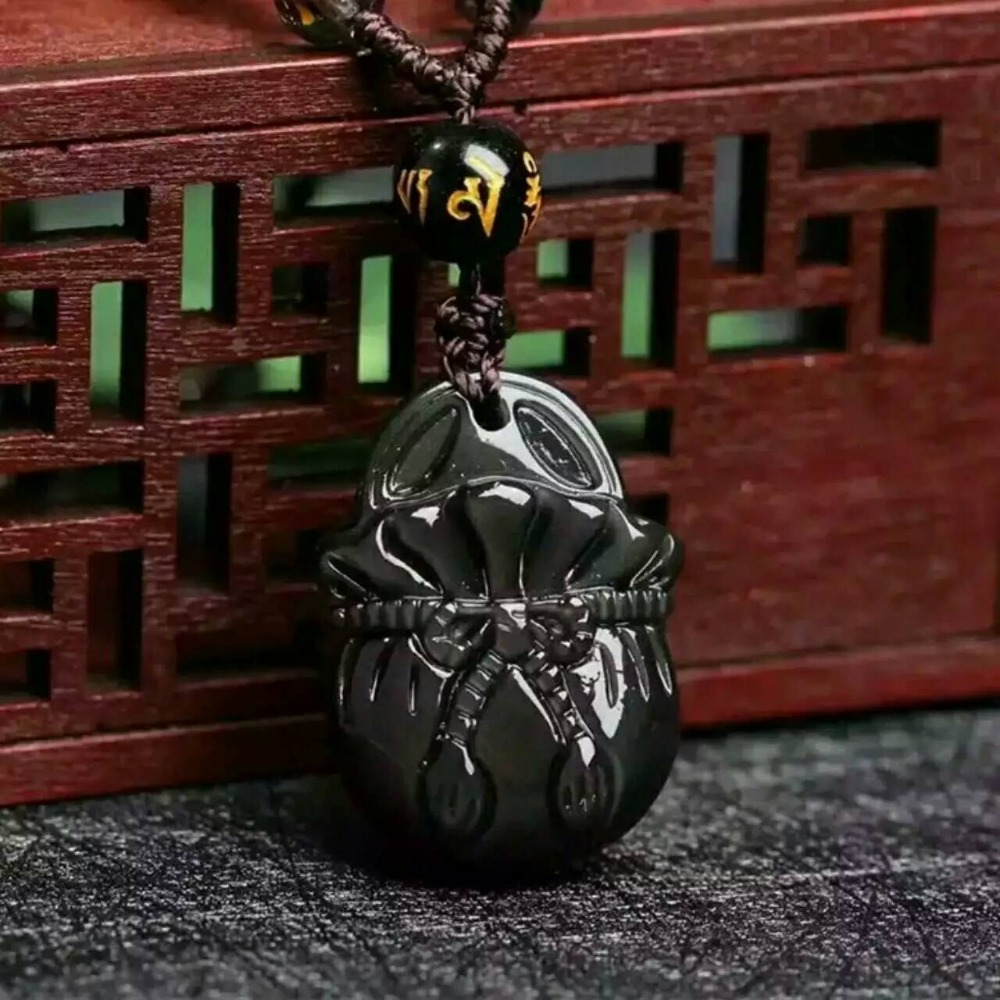 Free shipping Free shipping Natural rainbow Obsidian fortune purse necklace pendant with rope wholesale sovtek 5y3gt free shipping