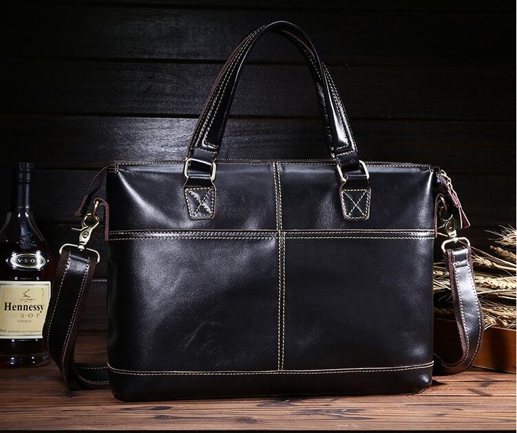 Breve caso degli uomini del cuoio genuino primo strato di pelle bovina messenger bag maschile borsa vintage di qualità degli uomini borsa orizzontali desgin