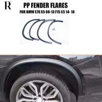 F15 E70 X5 PP Unpainted Side Wheel Arch Fender Guard Protector Flares for BMW E70 X5 08 13 F15 X5 14 18 4pcs/set
