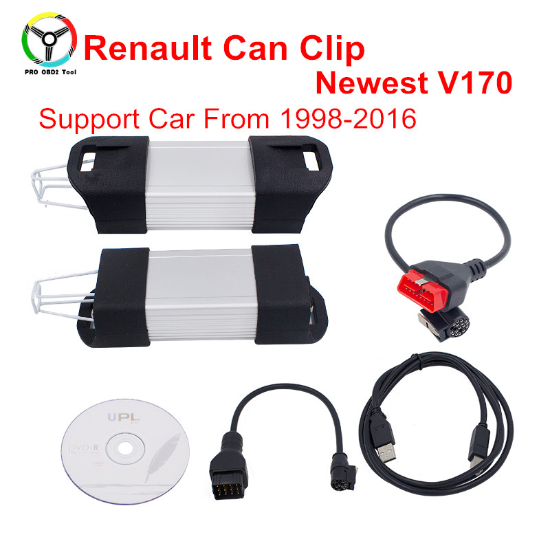 2017 Newest Renault Can Clip Scanner V170 For Renault Scanner Professional Diagnostic Tool Renault Clip Support Multi-Language