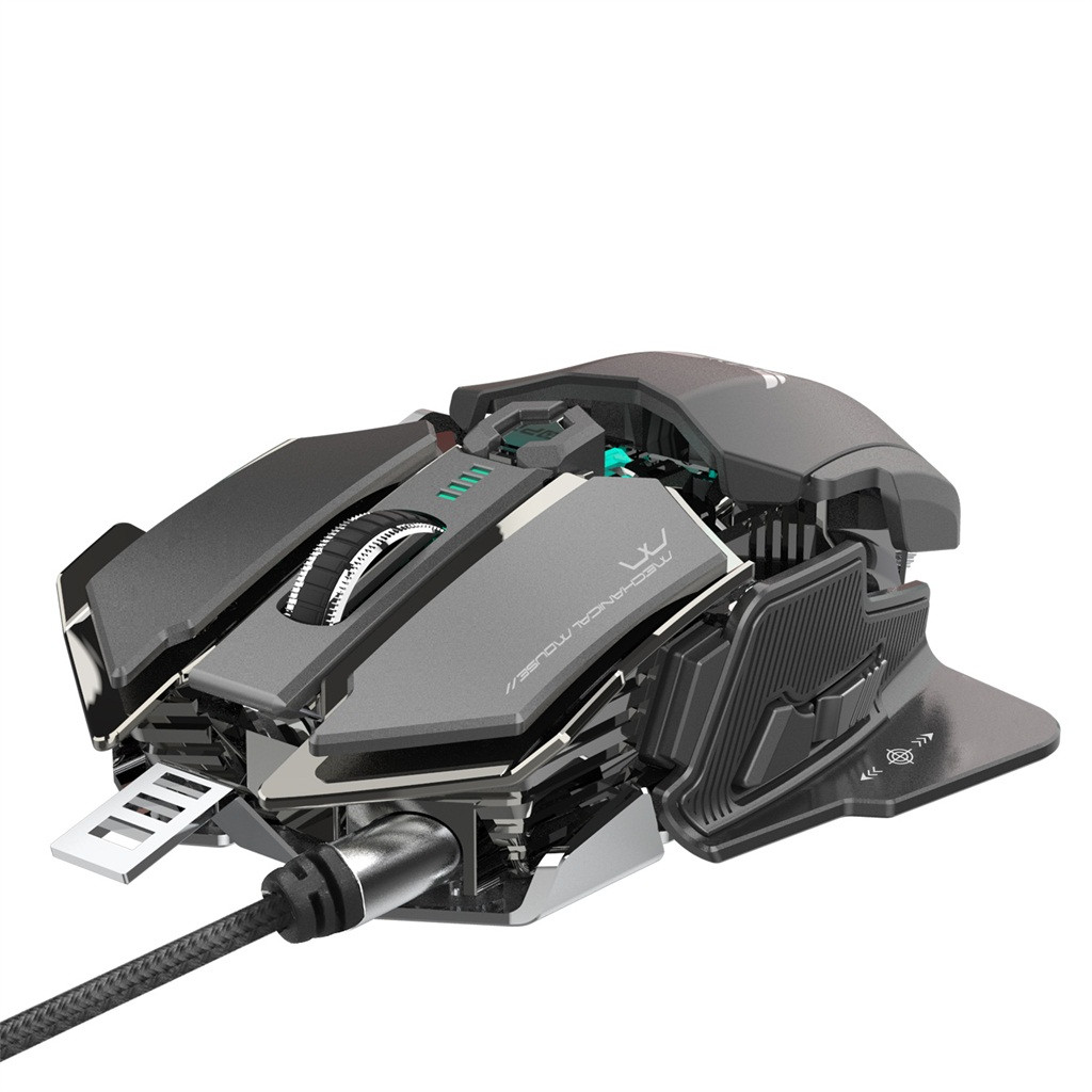 VOBERRY Suitable For V9 2400dpi Professional 6 Key Macro Programming LED Mouse Cable Mechanical Backlight Gaming Mouse