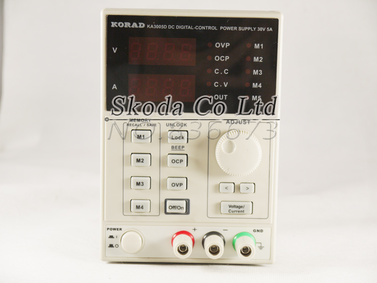 Free shipping Korad 3005D Adjustable Digital Display Lab Programmable DC Power Supply 0.01V /0.001A 5 set of parameters stored cps 6011 60v 11a digital adjustable dc power supply laboratory power supply cps6011