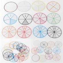 12 шт./лот математические фракции круги игрушки Пластиковые пронумерованные фракции круги математические фишки математические Цифры игрушки