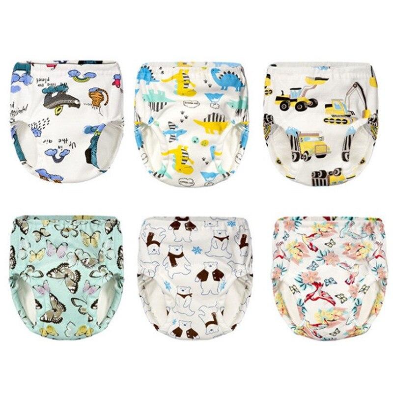 bbb2d03b5ed4 Pantalones de entrenamiento para bebé, niño, 6 capas, pañales de tela de  algodón lavables, pañales reutilizables para pañales
