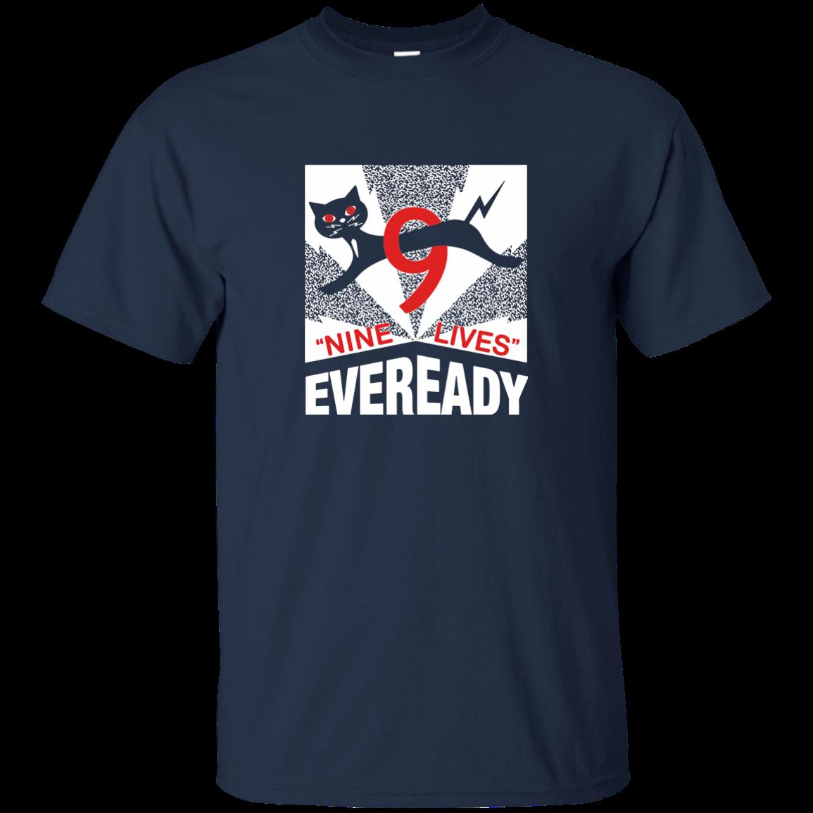 Eveready Baterai Baterai Retro Logo Kucing Hitam Aaa Dd Alcaline 9 Nyawa Streetwear T Shirt Aliexpress