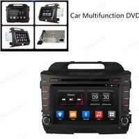 2 Din Android 4,4 Полная сенсорная панель gps навигация автомобильный dvd радиоплеер для KIA sportage r Sportage 10 15 четырехъядерный зеркало Wifi