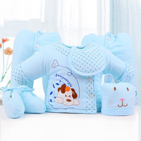 6pcs/set Newborn Baby Clothing Set for 0 6M Winter Autumn Kids Clothes 100% Cotton Long Sleeve Baby Winter Infant Clothing