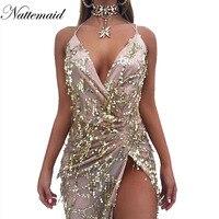 Nattemaid 2017 Spring Women Vintage Dress Apparel Sexy Sequin Tassel Beach Party Club Wear Maxi Long
