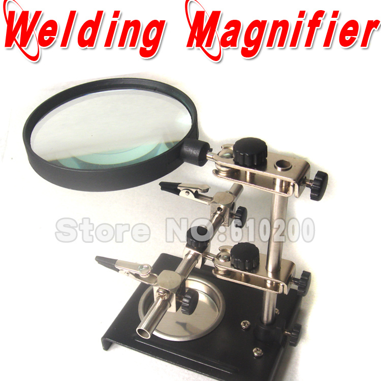Free Shipping Electric iron welding auxiliary tool magnifying glass iron frame used for iphone motherboard welding стоимость